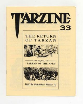 Tarzine: Number 33 - 1st Edition/1st Printing