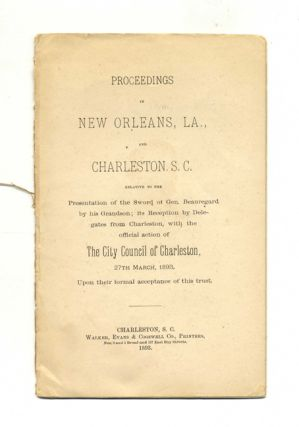 Proceedings At New Orleans, La. And Charleston, S. C