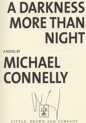 A Darkness More Than Night - 1st Edition/1st Printing
