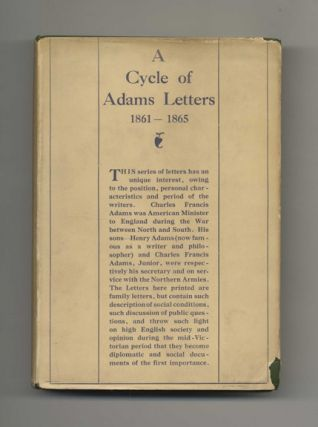 A Cycle of Adams Letters: 1861-1865 - 1st UK Edition/1st Printing