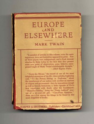 Europe and Elsewhere. Mark Twain, Samuel Langhorne Clemens