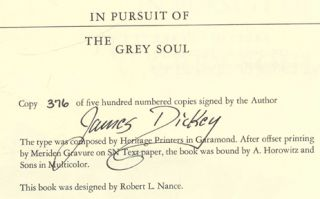 In Pursuit of the Gray Soul - 1st Edition/1st Printing