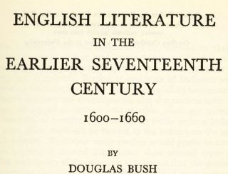 English Literature in the Earlier Seventeenth Century