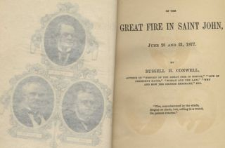 History of the Great Fire in Saint John, June 20 and 21, 1877