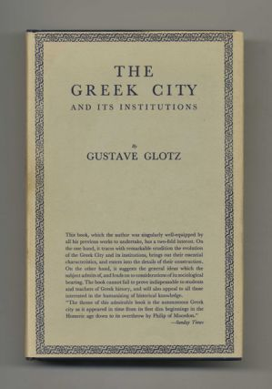 The Greek City and its Institutions. Gustave Glotz