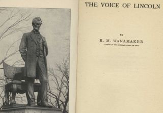 The Voice of Lincoln - 1st Edition/1st Printing