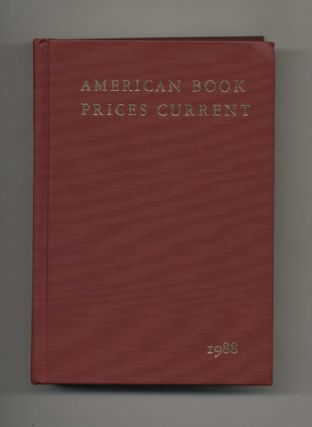 American Book Prices Current 1988