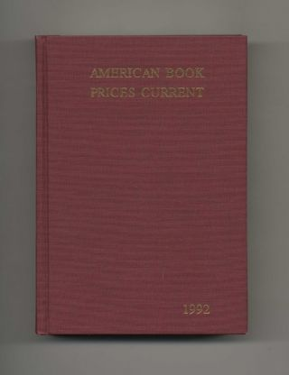 American Book Prices Current 1992