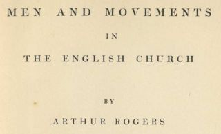 Men and Movements in the English Church - 1st Edition/1st Printing