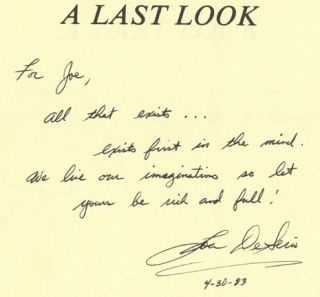 A Last Look - 1st Edition/1st Printing