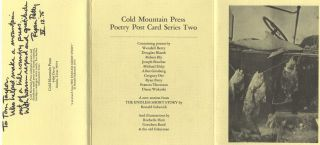 Cold Mountain Press Poetry Post Card Series Two - 1st Edition/1st Printing