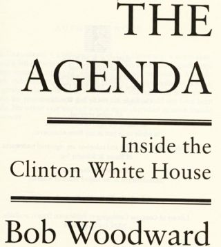 The Agenda: Inside the Clinton White House - 1st Edition/1st Printing