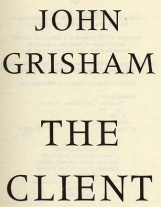 The Client - 1st Edition/1st Printing