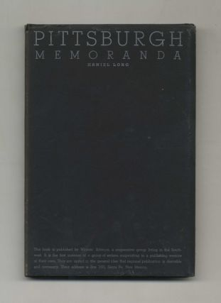 Pittsburgh Memoranda - 1st Signed Limited Numbered Edition / 1st Printing