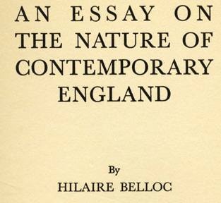 An Essay on the Nature of Contemporary England -1st Edition/1st Printing