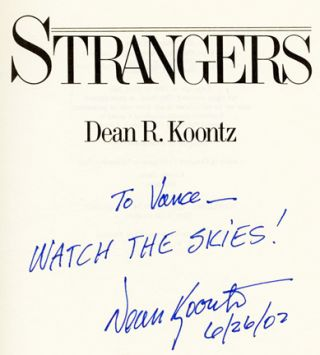 Strangers - 1st Edition/1st Printing