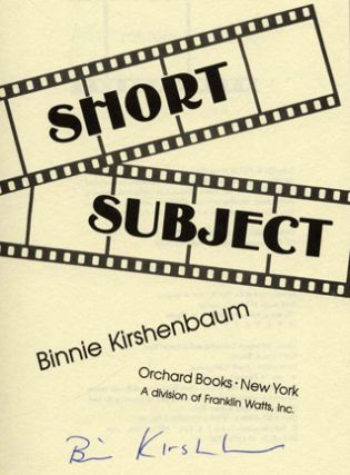Short Subject - 1st Edition/1st Printing